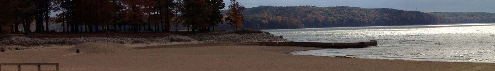 Paynetown Beach at Lake Monroe in Bloomington, Indiana